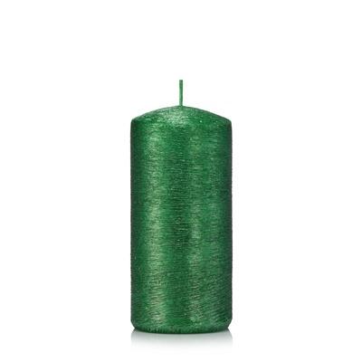 Świeca KOKON WALEC 12/6 cm kolor zielony