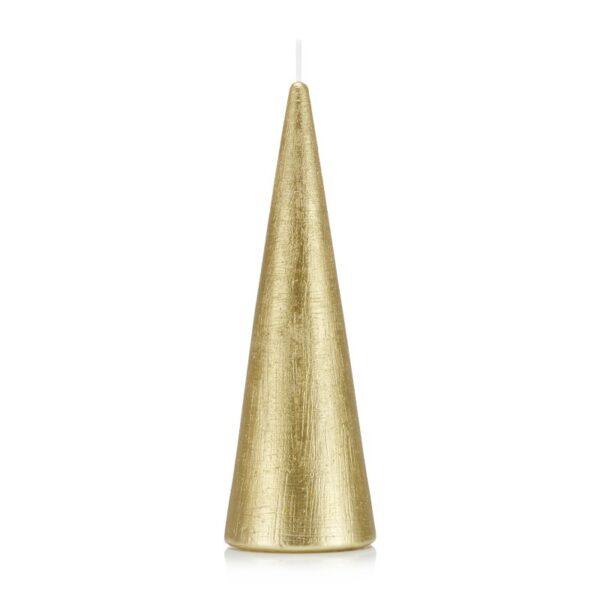 Świeca stożek 21 cm kolor złoty