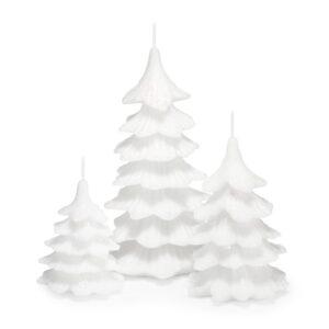 Zestaw świeczek ozdobnych choinka kolor biały